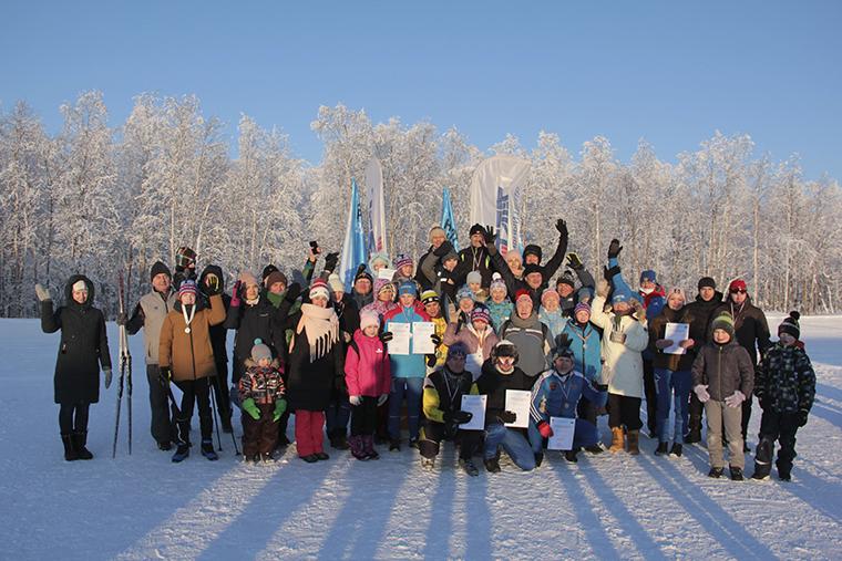 Не побоялись мороза. В Апатитах прошла гонка «Лыжня России»